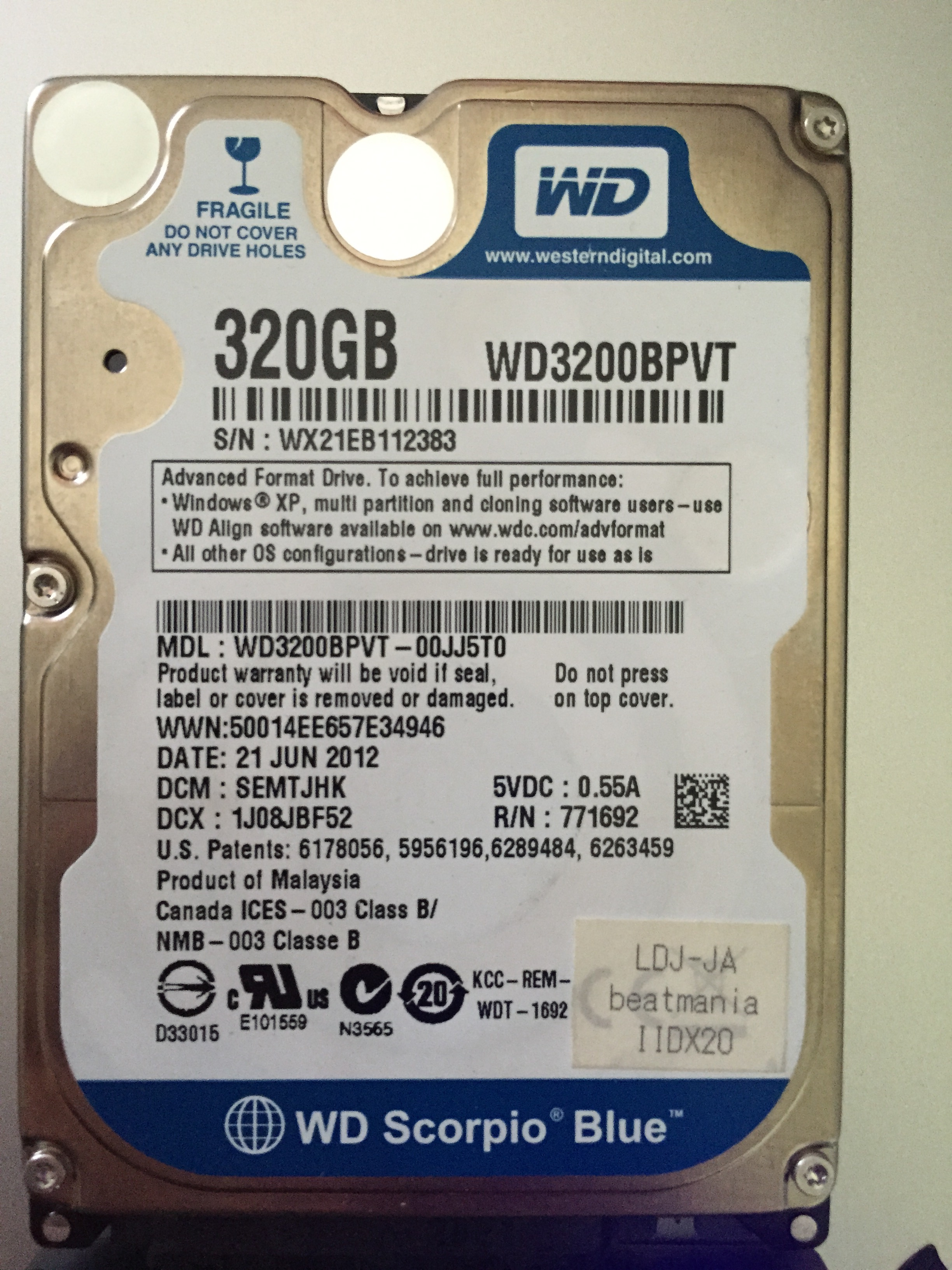 IIDX21 HDD